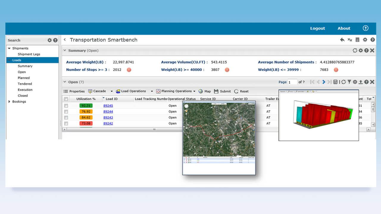 Transportation Management Screenshot
